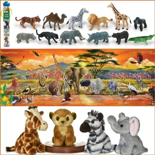 Cheap Bundles of Fun Melissa & Doug Safari Floor Puzzle with Wild Animals Toob Bundle of 3 Items with **BONUS** by Bundles of Fun (B0052G7CWG)