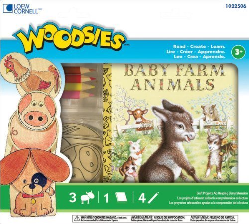 USA Wholesaler - 10963345 - Woodsies Storybook Activity Kit-Baby Farm Animals - 1