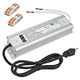 (UL Listed) 12V 150watt LED Driver 12.5A Waterproof IP67 Transformer, 12VDC LED Power Supply with 3 Prong AC Plug, 120V AC to 12V DC Adapter Power Converter (Color: Aluminum Silver, Tamaño: 12V- 150W)