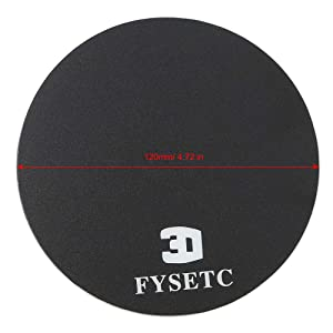 FYSETC 3D Printing Build Plate 120mm Round Ultra-Flexible Removable Magnetic Bed Build Surface Hot Bed Sticker for Monoprice MP Select Mini Delta 3D Printer Part