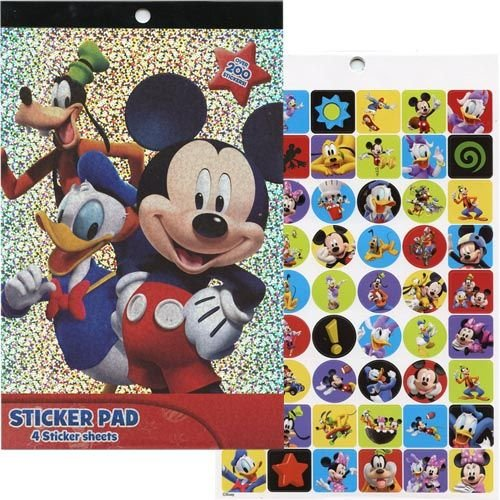 Disney Mickey Mouse Clubhouse 4 Sheet Sticker Pad with Over 200 Stickers - 1