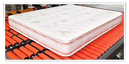 MiaSuite Ailime Top Materasso Matrimoniale Sfoderabile Memory, 160x200x25 cm, Aloe Vera, Bianco