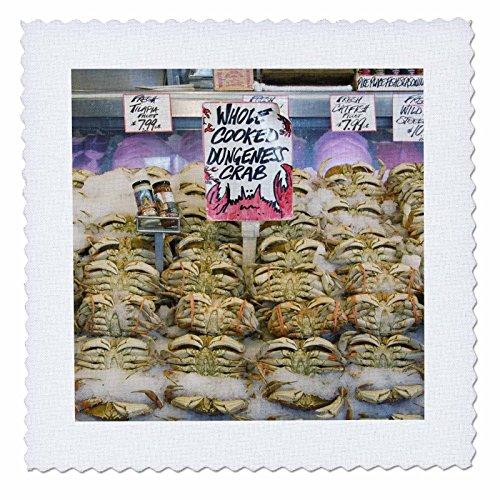 Danita Delimont - Markets - Washington, Seattle, Pike Place Market crab - US48 CSL0051 - Charles Sleicher - 6x6 inch quilt square (qs_95284_2)
