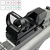 UniqueFire Green and Red Dot Sight for Reflex Sight Tactical Reflex with 4 Reticles and 5 Levels of Brightness Hd Night Sights