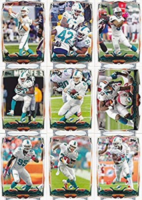 Miami Dolphins 2014 Topps NFL Football Complete Regular Issue 13 Card Team Set Including Ryan Tannehill, Cameron Wake, Knowshon Moreno Plus