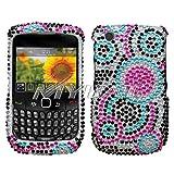 Blackberry Curve 8520/8530/9300 Bubble Diamante Protector Cover Full Rhines ....