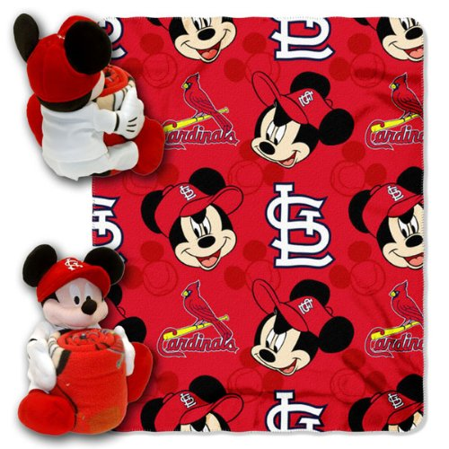 MLB St. Louis Cardinals Mickey Mouse Pillow with Fleece Throw Blanket Set at Amazon.com
