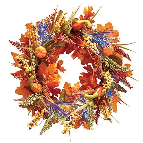 Fiber Optic Autumn Wreath