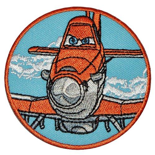 Bügelbild - Disney Planes Sprühflugzeug Dusty 7 cm - Aufnäher Applikation Flugzeug Piper Pawnee