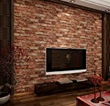 DIY レンガ タイル ブロック赤壁紙 壁用 おしゃれ ブリックパターン ストーン 3D 屋内 ベッドルーム装飾