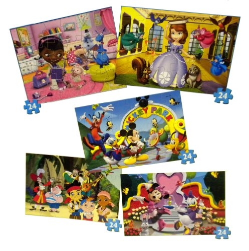 Disney Junior Super 3D Lenticular Puzzles - 5 Pack - Jake and the Neverland Pirates, Doc McStuffins, Mickey Mouse, Minnie Mouse at Sears.com