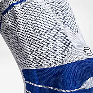 Bauerfeind - GenuTrain - Knee Support Brace - Targeted Support for Pain Relief and Stabilization of The Knee - Size 3 - Color Titanium (Color: Titanium, Tamaño: 3)