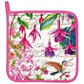 Michel Design Works Fuchsia Cotton Potholder, Multicolor