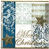 Paper+Design ペーパーナフキン クリスマス メリークリスマス 青