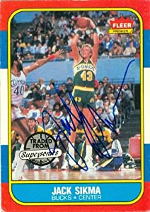 Jack Sikma Autographed Hand Signed Basketball Card (Seattle Sonics) 1986 Fleer... by Hall of Fame Memorabilia