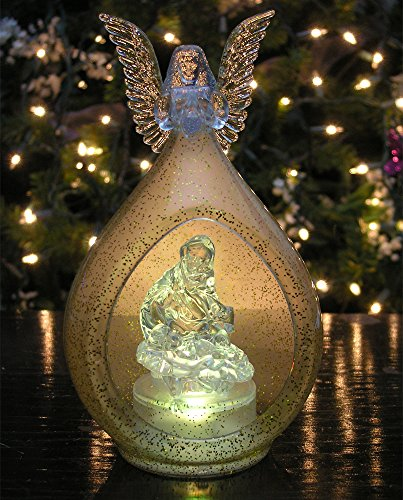 Holy Family With Angel Hair Glass Ornament: Fa La La La La,La La La La....
