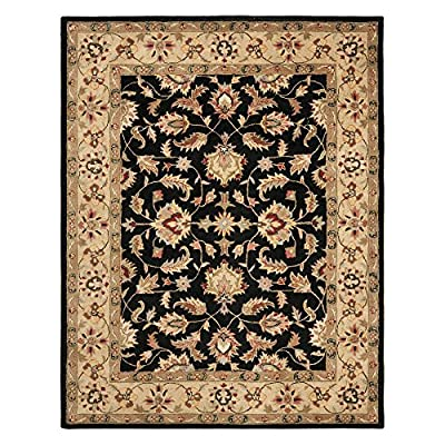 Safavieh Heritage Collection Handmade Black and Gold Wool Area Rug
