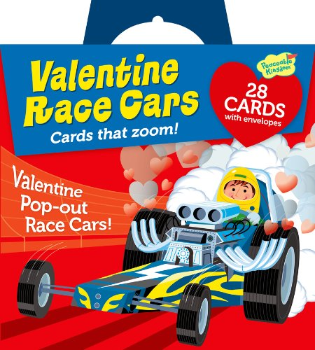 Best Buy! Peaceable Kingdom / Pop-Out Race Car Super Valentine Card Pack
