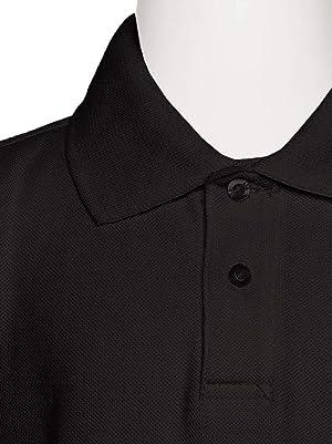 AKA Boys Wrinkle Free Polo Shirt Short Sleeve Pique Chambray Collar Comfortable Quality Hunter Green 8