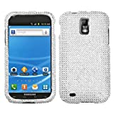 Samsung T989 T-989 Galaxy S II 2 / Hercules Cell Phone Full Silver Crystals Diamonds Bling Protective Case Cover