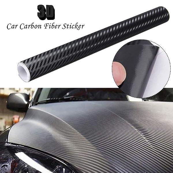 Carbon Fiber Interior Exterior Roof Hood Bumper Wrap Vinyl Decal Film Sticker