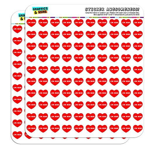 13-cm-13-cm-scrapbooking-aufkleber-i-love-herz-food-h-l-lima-beans