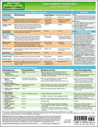 MemoCharts Pharmacology: Drug Therapy for Epilepsy (Review chart)