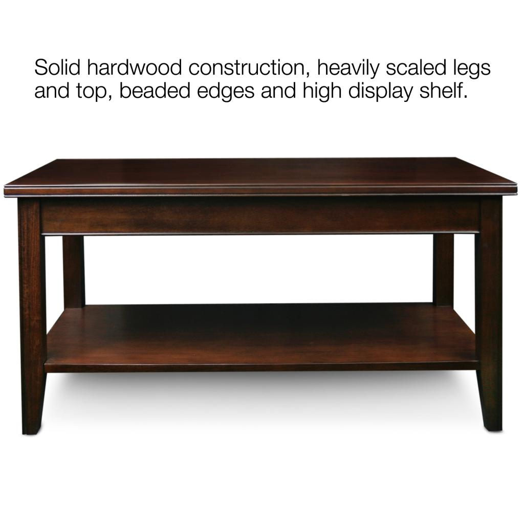 Leick laurent condo apartment coffee table cherry wood coffee table Cherry wood coffee tables