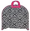Ever Moda Pink Black Damask 40-inch Hanging Garment Bag