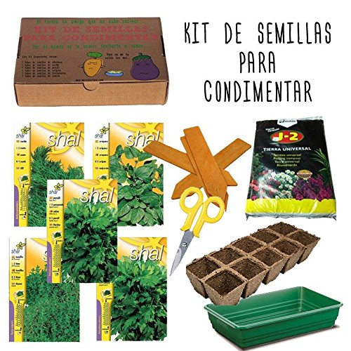 Kit de semillas de plantas arom ticas plantas de interior for Kit de cultivo de interior