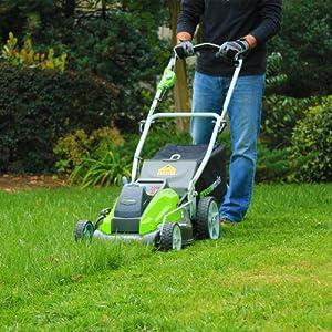 GreenWorks G-MAX Mower, 40V 4 AH Li-Ion Battery and Charger Inc by Sunrise Global Marketing, LLC