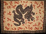Oriental Dragon Tapestry-Bedspread-Coverlet-Throw