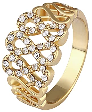 Generic Women's Cross Wedding Ring Size 10 Color Gold