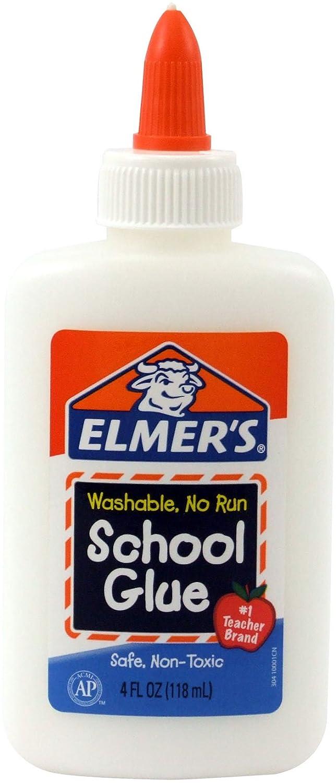 Elmer's Washable No-Run School Glue, 4 oz, 1 Bottle