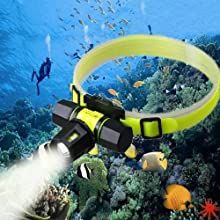 CREE XM-L T6 100m Diving Zoomable Headlight Lamp Waterproof