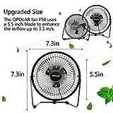 OPOLAR F501 Desktop USB Fan with Upgraded 6 Inch Blades, Enhanced Airflow, Lower Noise, Metal Design, USB Powered, Personal Table Fan, Mini Cooling Fan, Small Table Fan - Black