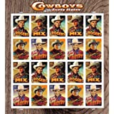 2010 US COWBOYS OF THE SILVER SCREEN MNH STAMP SHEET