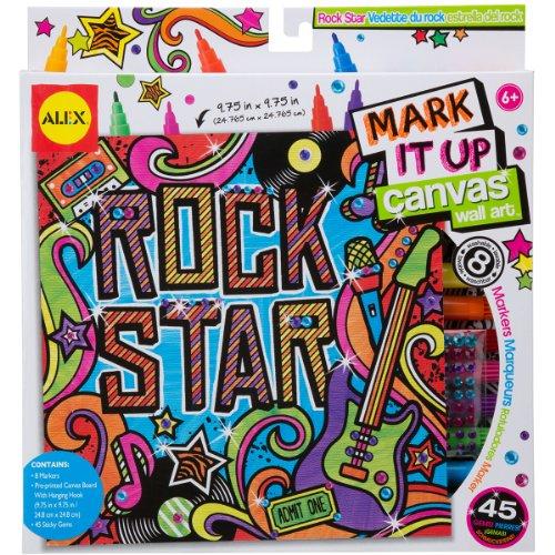 ALEX Toys Artist Studio Rock Star Mark It Up Canvas Wall Art - 1