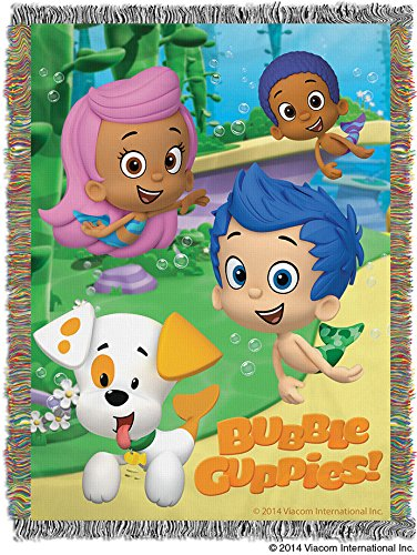The Northwest Company Nickelodeon'S Bubble Guppies Guppy Fun Tapestry Throw, 48-Inch By 60-Inch front-877867