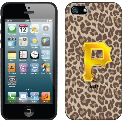 Great Sale Pittsburgh Pirates - Leopard Print design on a Black iPhone 5s / 5 Thinshield Snap-On Case by Coveroo
