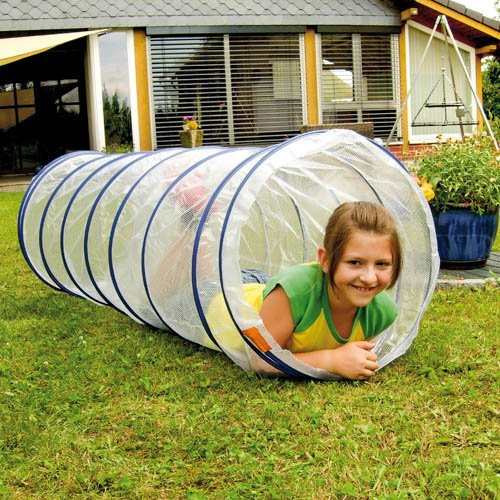 Kinder Kriechtunnel transparent, Ø 56 cm, L 155 cm – Spieltunnel Krabbeltunnel jetzt kaufen