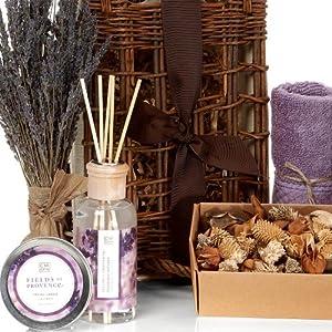Lavender Relaxation Fragrance Spa Basket