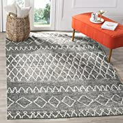 Safavieh Stone Wash Collection STW312A Hand-Knotted Grey and Beige Premium Wool Area Rug (4 x 6)