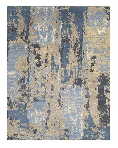 Jaipur Rugs Hand-Knotted Abstract Rug, Blue/Taupe, 5' x 8'