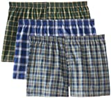 Fruit of the Loom Men's BigMan Woven Boxer(Pack of 3)