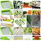 Vegetable and Fruit Nicer Dicer Multipurpose Chopper-stainless Steel Blade for Quick Spiral Slicing-grater Kitchen Tool Set-one Touch Food Ganesh Chopper, Slicer and Cutter