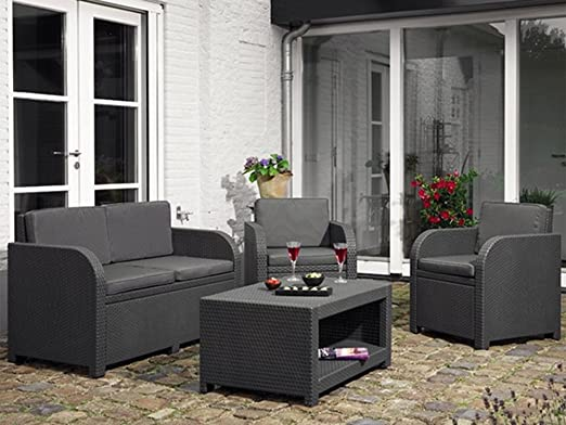 Allibert Modena Garden Rattan Furniture Set