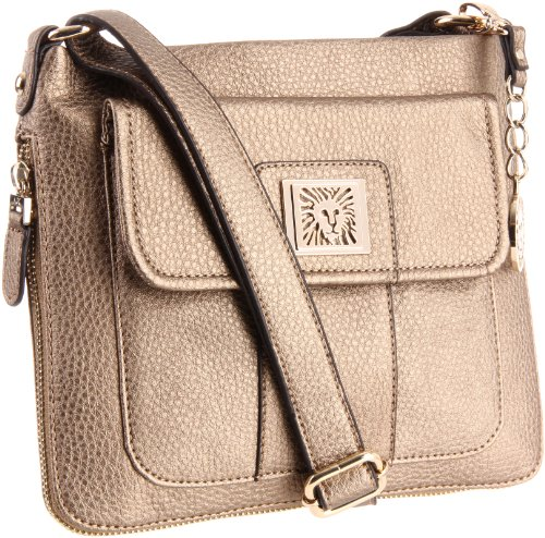 Anne Klein Trinity AA-0234130AA Cross Body,Dusty Bronze,One Size