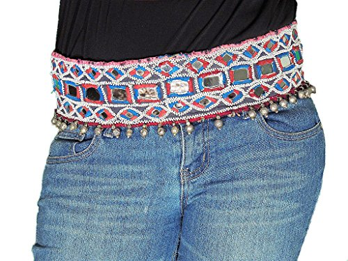 Belly Dance Beaded Belt - Ethnic Indian Gypsy Embroidered Costume Accessory
