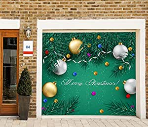 Christmas garage door covers 3d banners for Christmas garage door mural